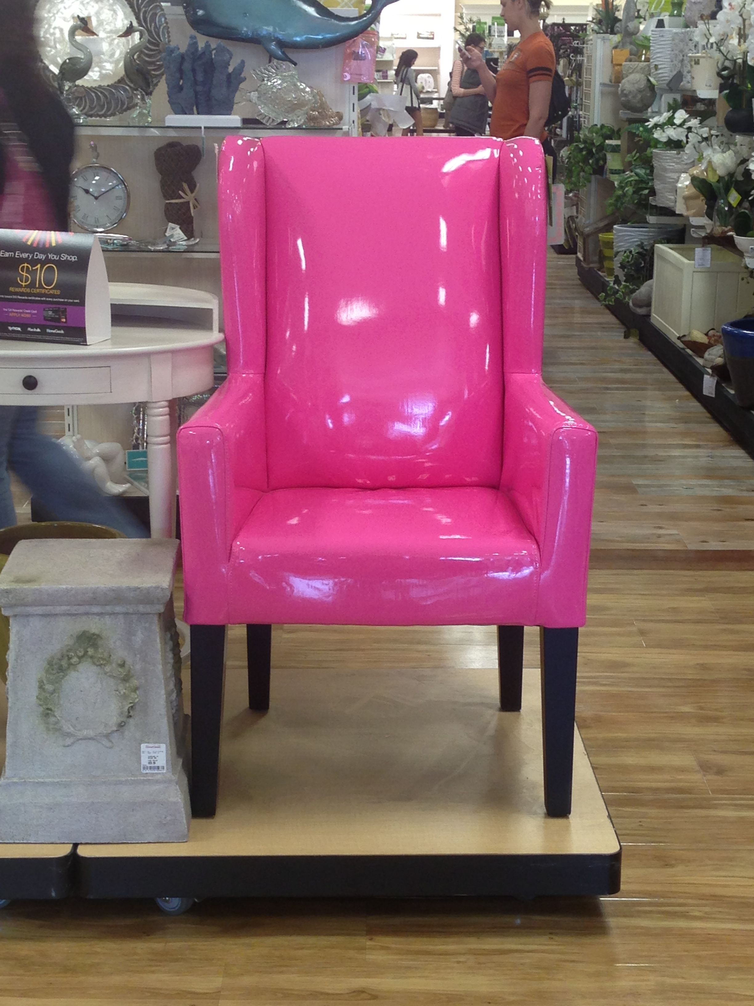 pink chair home goods