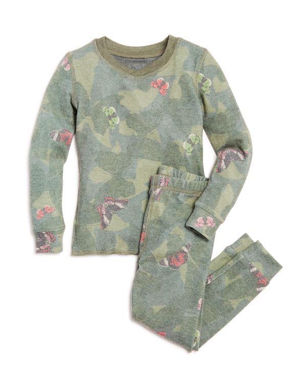 661c2d7cb8 Pj Salvage Girls  Butterfly Camo Print Pajama Top   Bottoms Set - Big Kid