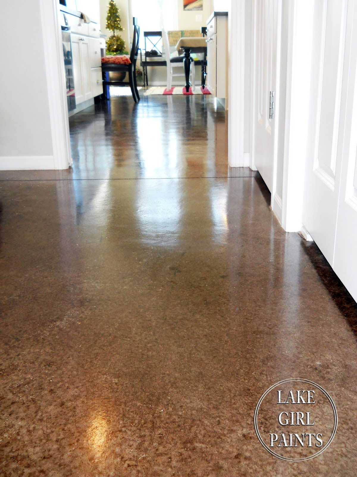 Lake Living In Nebraska Home Tour Debbiedoo S Concrete Stained Floors Painted Concrete Floors Concrete Floors