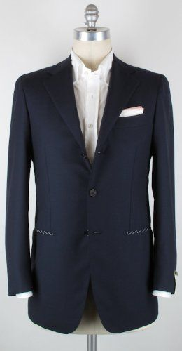 Click Image Above To Buy: New Borrelli Navy Blue Sportcoat 36/46