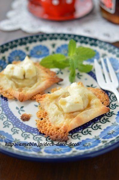 トースターで簡単おやつ♪「餃子の皮で*バナナとチーズのメープル ...