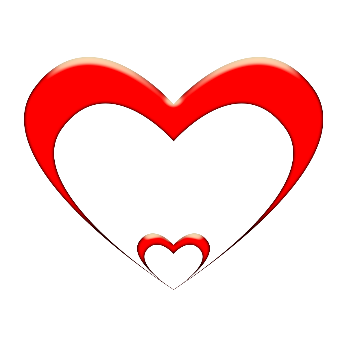 Line Heart Png Clipart Transparent Background Image