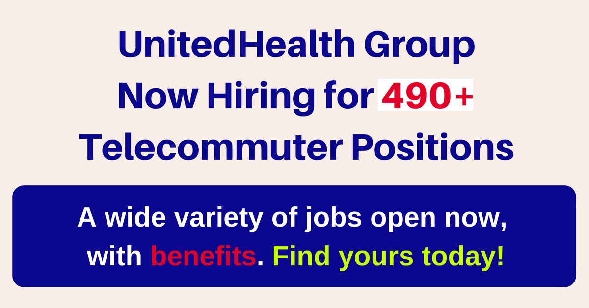 490 Jobs Open Now with UnitedHealth Group