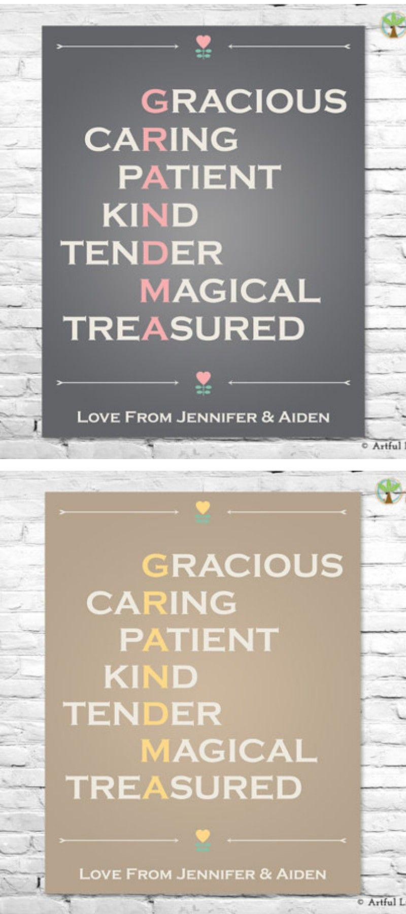 GRANDMA GIFT, Grandma Poem, Grandma Print, Grandma Birthday Gift ...