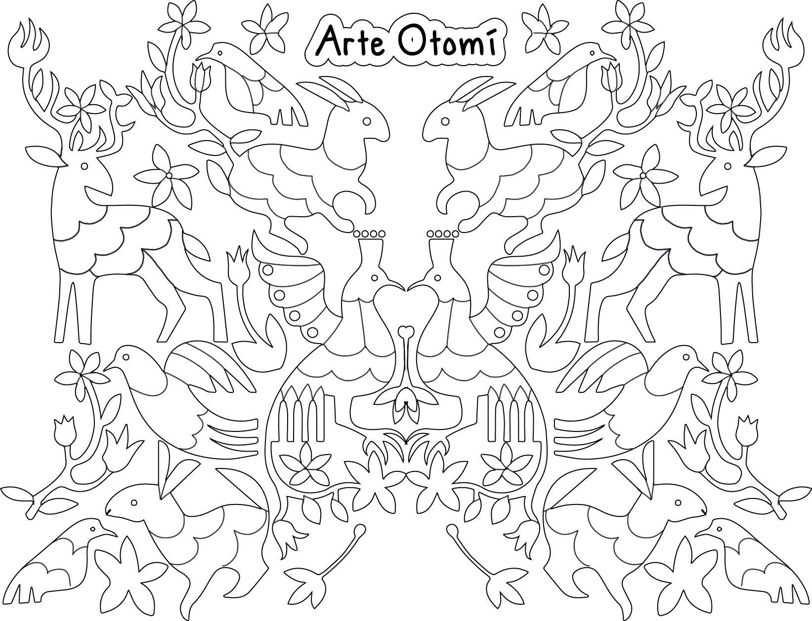 Arte Otomí para colorear | 1er Grado | Pinterest | Colorear, Bordado ...