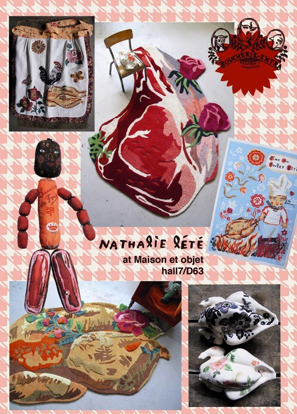 cute meat by Nathalie Lete Doll available at www