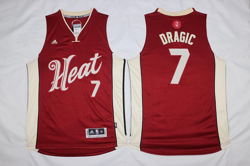 72b7e689 $21.5 Adidas Miami Heat #7 Goran Dragic Red 2015-2016 Christmas Day NBA  Swingman