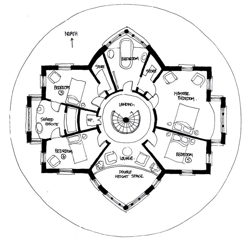 Pin By Rista Lori On Residential Plans Craftsman Floor Plans Octagon House Unique Floor Plans
