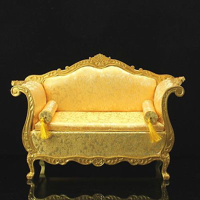 Doll House Furniture Living Room Set Golden Scale 1 6 Silkstone Barbie   eBay