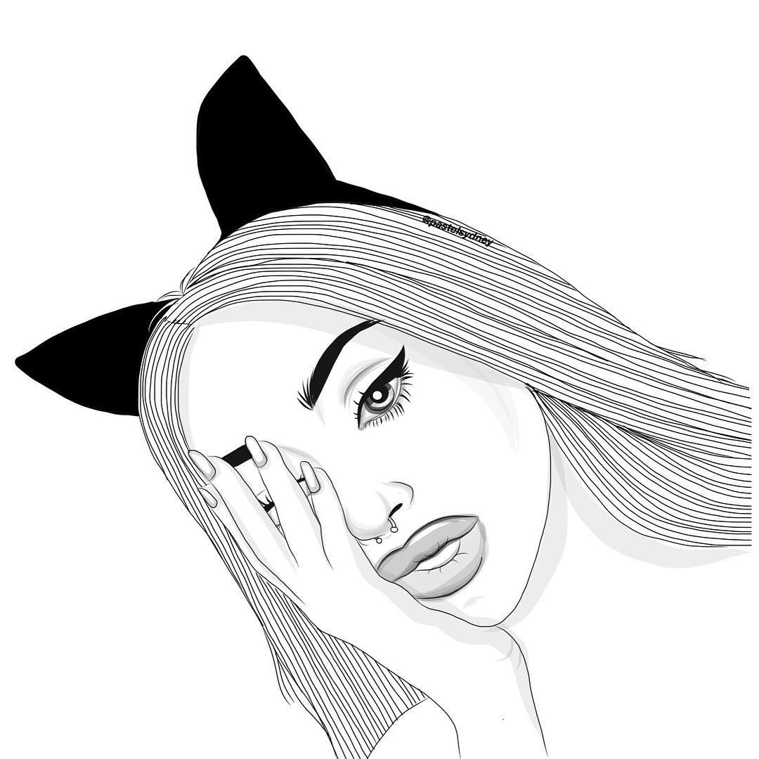 Line Drawing Tumblr Girl : I got hot sauce in my bag swag follow fleektierra for