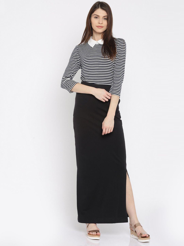 59ccd20d3b Vero Moda Black Maxi Skirt #solid #party | Hello, Snappy Dresser ...