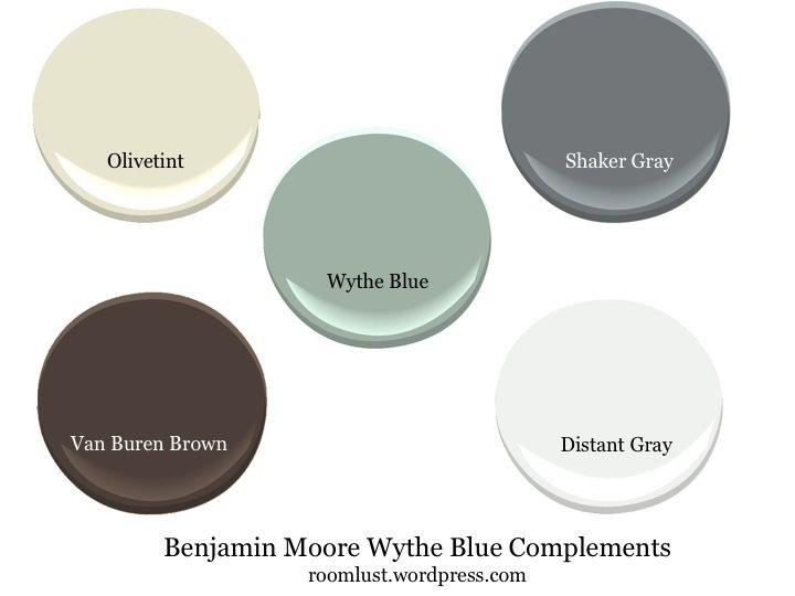 benjamin moore wythe blue complements, via #roomlust   paint