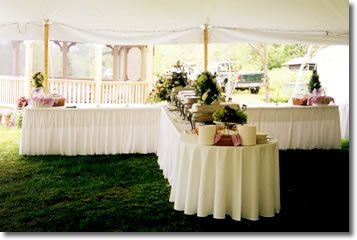 Table Setting For Buffet Reception Shaped Buffet Tables With Floor - Catering table setting