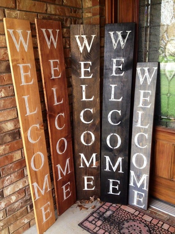 Stain And Letter Colors Porch Welcome Sign Welcome