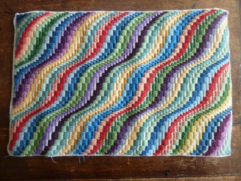 multi color modern bargello | Needle Art | Pinterest | Bordado ...