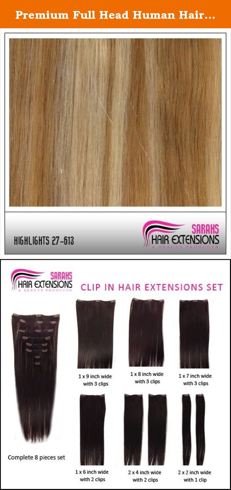 Premium Full Head Human Hair Extension Clip In Any Length Mixed