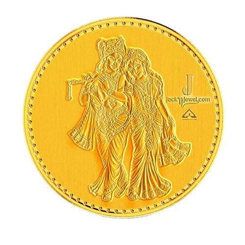Radha Krishnan 10 Gm Gold Coin Gold Coins Gold Coins