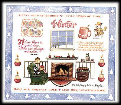Susan-Branch-Vintage-Retired-Winter-Christmas-Acts-Of-Kindness-Stickers