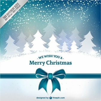 Tarjeta De Navidad Con Los Arboles Blancos Christmas Cards