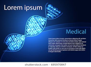 Abstract Health Medical Science Consist DNA Digital Technology Concept Modern TechnologyTreatmentmedicine On Hi Tech Future Blue Background For