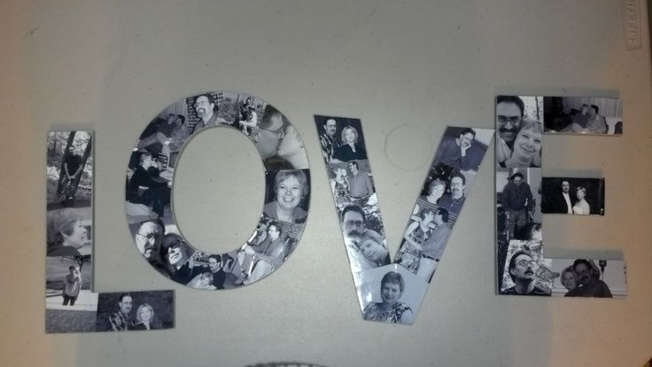 Photo of Bilder von mir und meinem Mann klebten an preiswerten Pappbriefen der Hobby Lobby …
