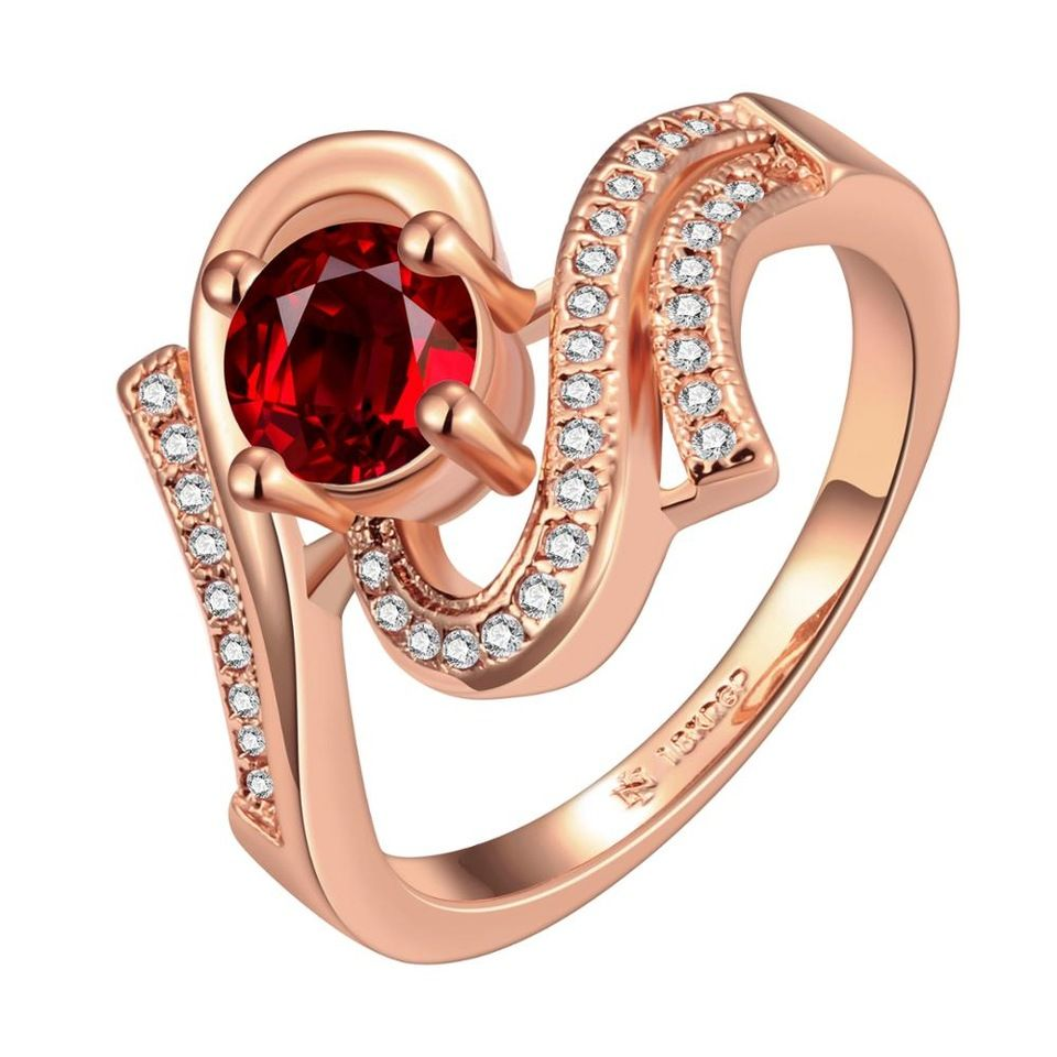 latest gold ring designs for girls, ruby stone round shape gold ...