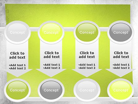 Green Sticky Note Powerpoint Template Slide   Quiz