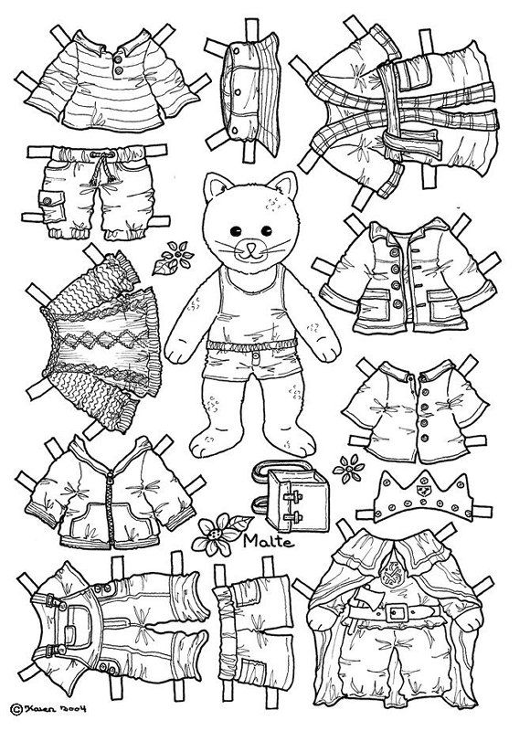 cat paper doll coloring page coloring pages paper dolls printable paper dolls vintage. Black Bedroom Furniture Sets. Home Design Ideas
