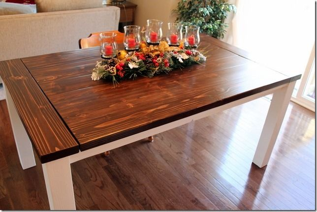 DIY Farmhouse Table with Extension Leaves (with Plans | With<br ...