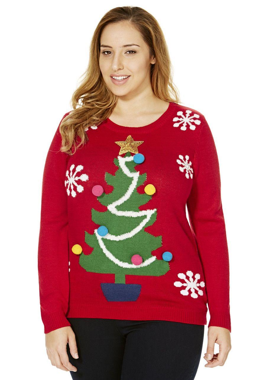 F&F True Christmas Tree Plus Size Jumper Plus size