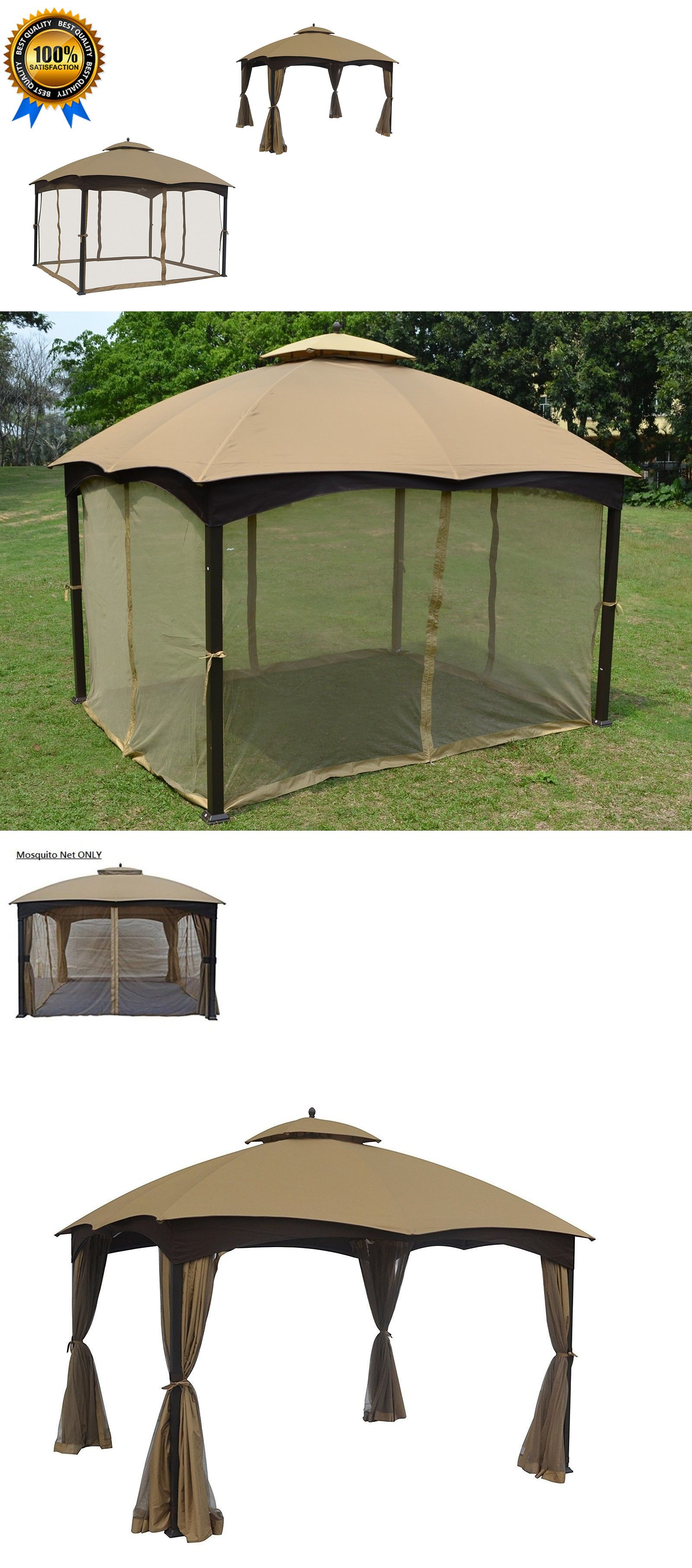 Gazebos 180995 Gazebo Mosquito Netting Panels 4 Wall For Tent Canopy Outdoor Easy Pop 10