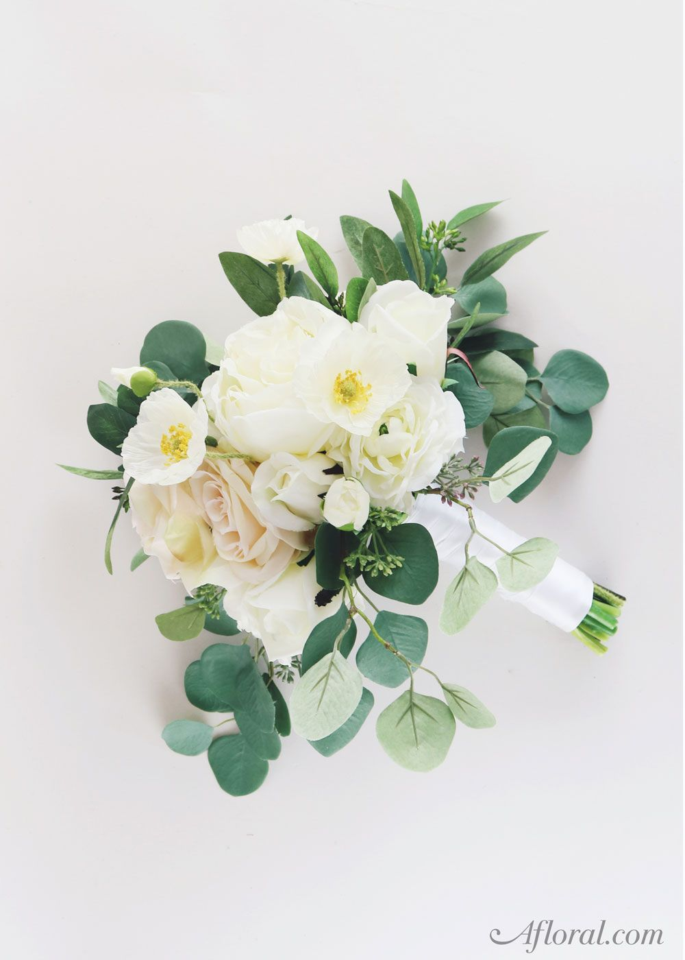 Silk flower wedding bouquet make your own bridal bouquet with fake silk flower wedding bouquet make your own bridal bouquet with fake flowers from afloral affordable beautiful long lasting silk flowers are the izmirmasajfo