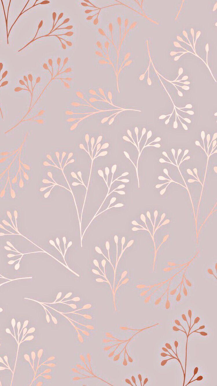 Rose Gold Wallpaper Plain Wallpaper Pastel Wallpaper Flower