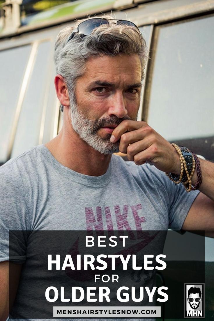 10 Best Hairstyles For Older Men (10 Guide)  Older mens