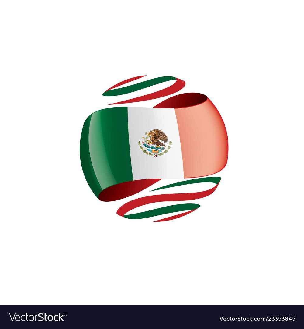 Mexican Flag On A White Royalty Free Vector Image Ad White Flag Mexican Royalty Ad Vector Free Vector Free Vector Images