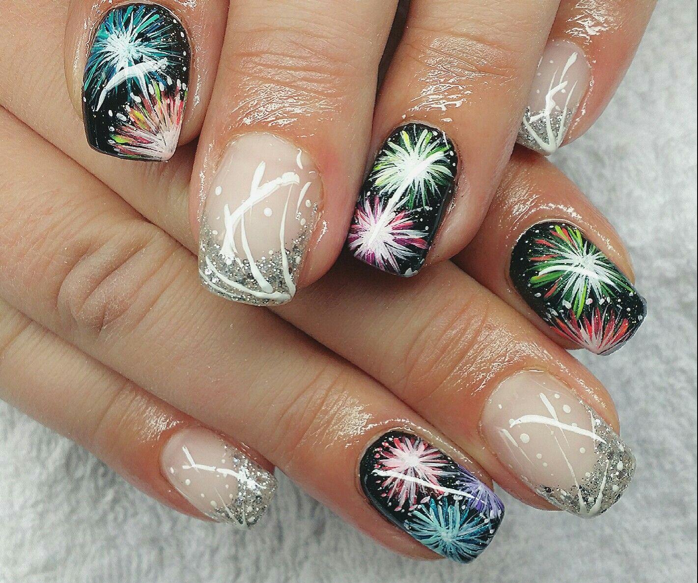 Nail Design Fullcover Silvester | Siebenschön Nails | Pinterest ...