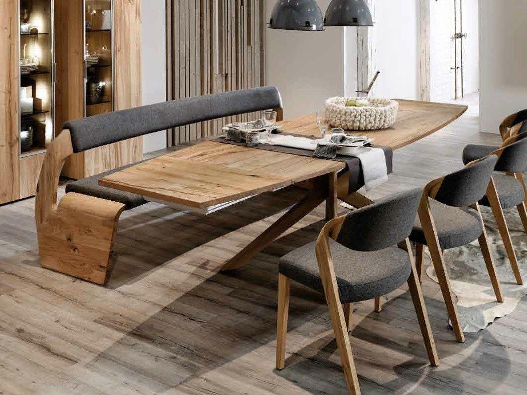 Mesa extensible rectangular de roble Colección V-Alpin by Voglauer