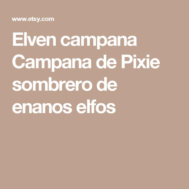 Elven campana Campana de Pixie sombrero de enanos elfos