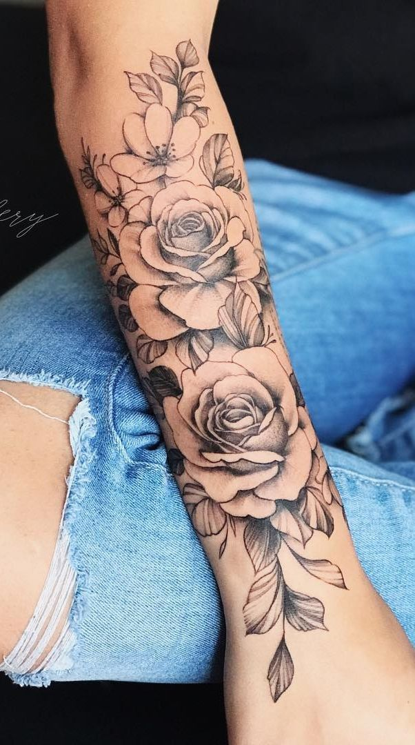 Sleeve Rose Tattoo Arm Tattoos For Women Sleeve Tattoos For