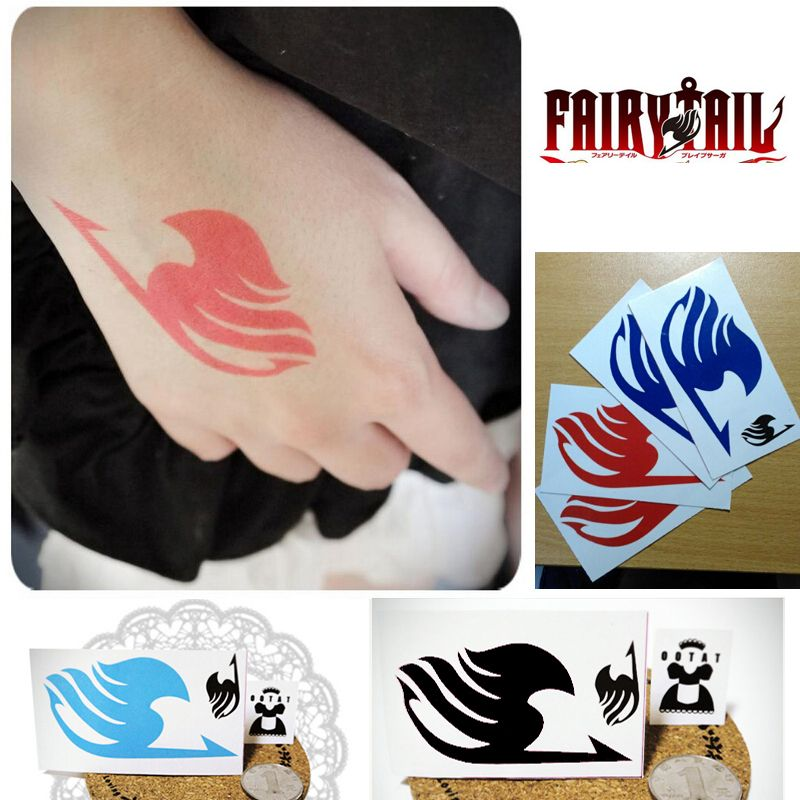 Anime Fairy Tail Natsu Dragneei Guild Tattoos Sticker Cosplay Tattoo Waterproof