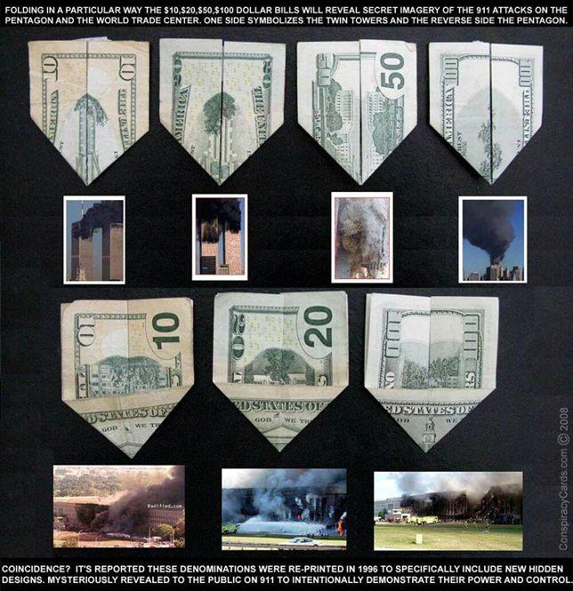 Illuminati Origami Dollar Bill Illuminati Symbols Money