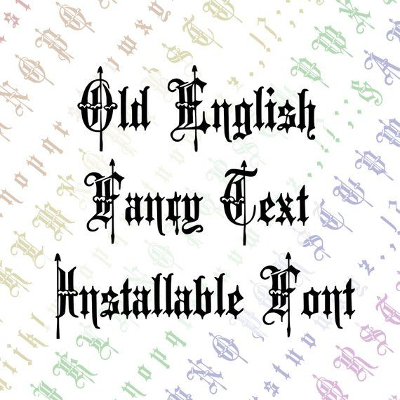 Victorian Old English Fancy Text Ornamental Installable Font