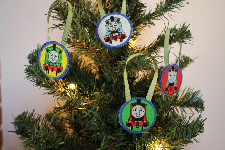 thomas the train ornaments christmas 400 via etsy