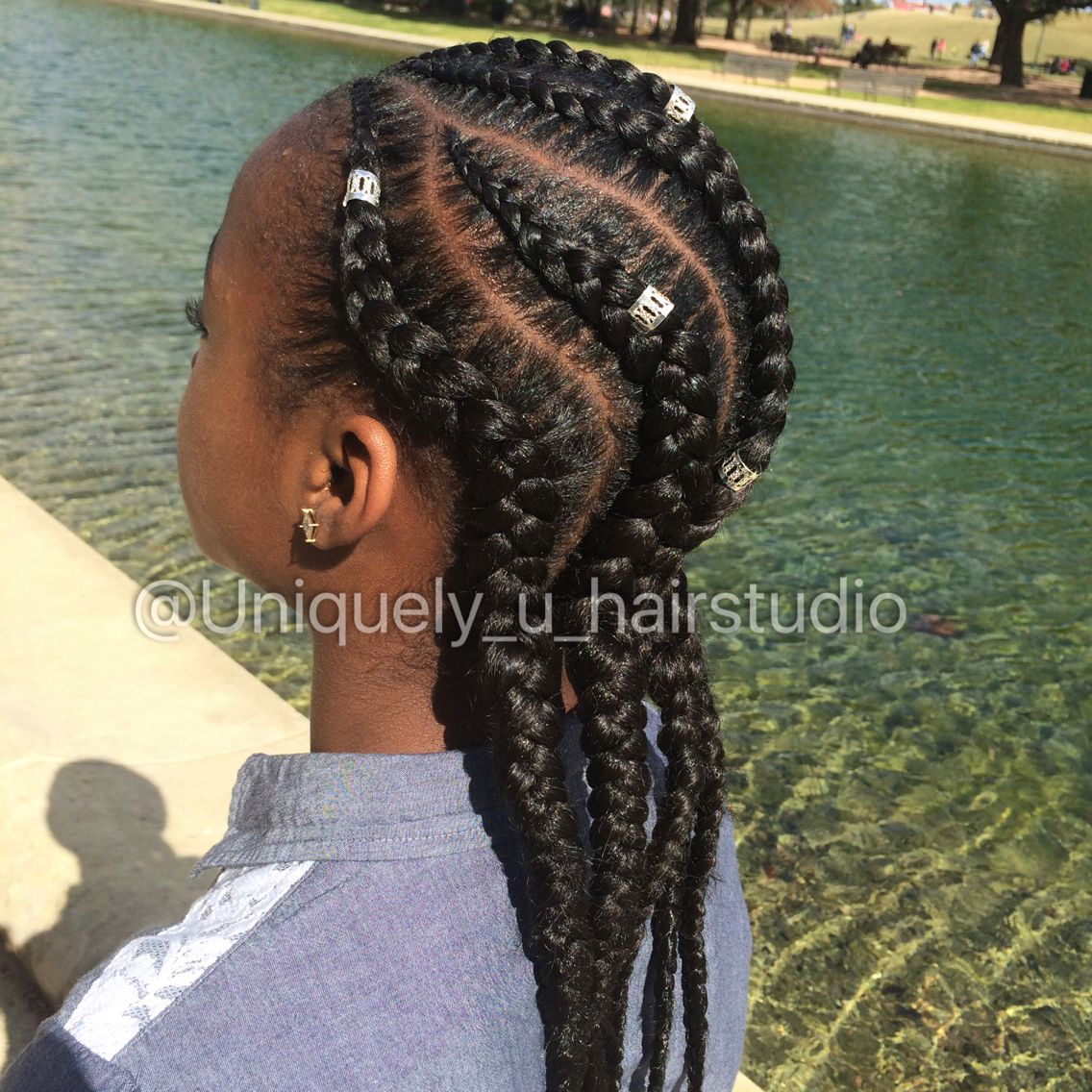 Jumbo Big Feed In Cornrows Natural Hair Styles Kids
