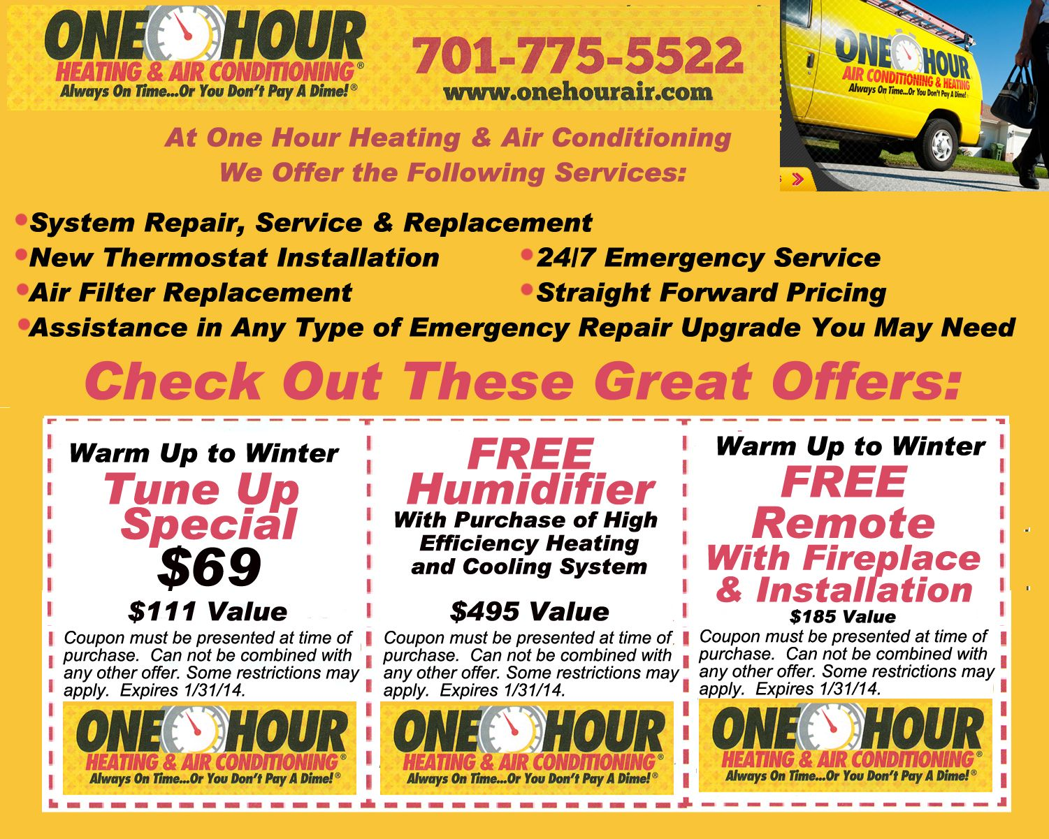 Check Out Our Monthly Coupons And Promotions Call Today To