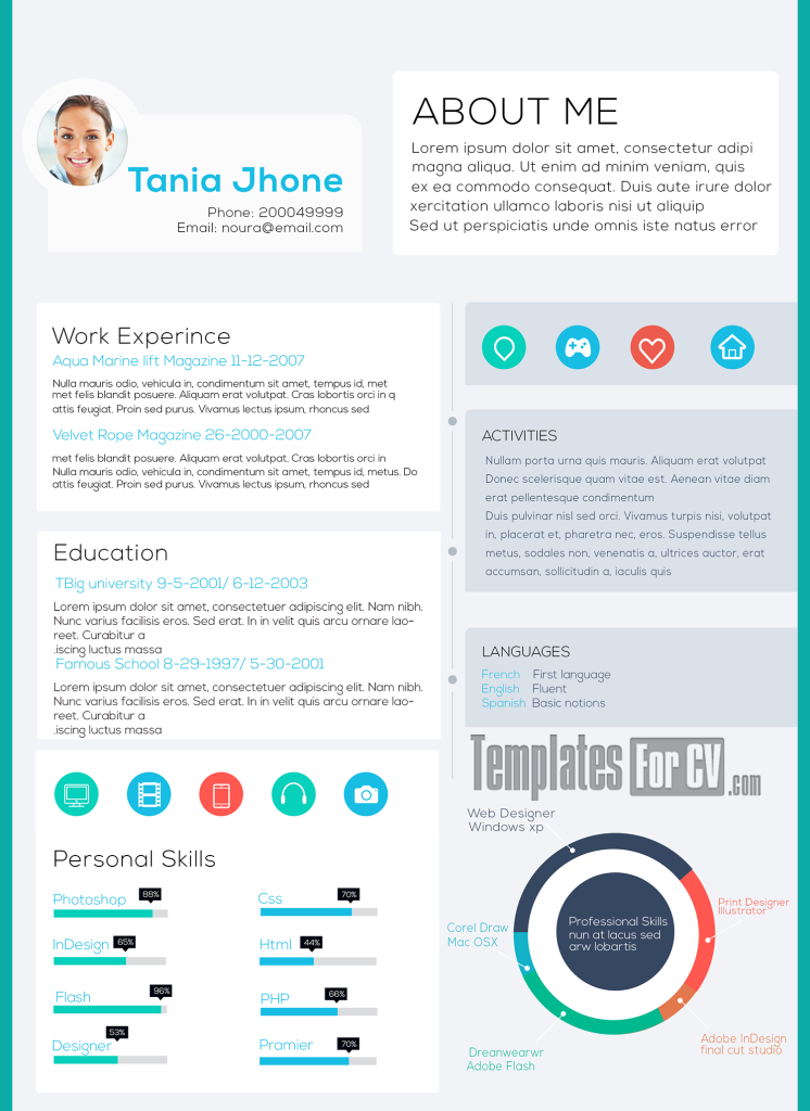 Executive CV Template Plantilla de curriculum vitae