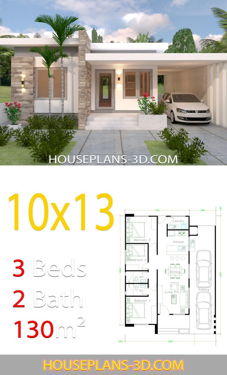 House Design 10x13 With 3 Bedrooms Full Plans Planimetrie Di