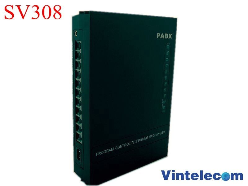 Analog Telephone Switch Pabx Pbx Phone System Sv308 3 Lines And 8 Extensions Hot Sell Di 2020