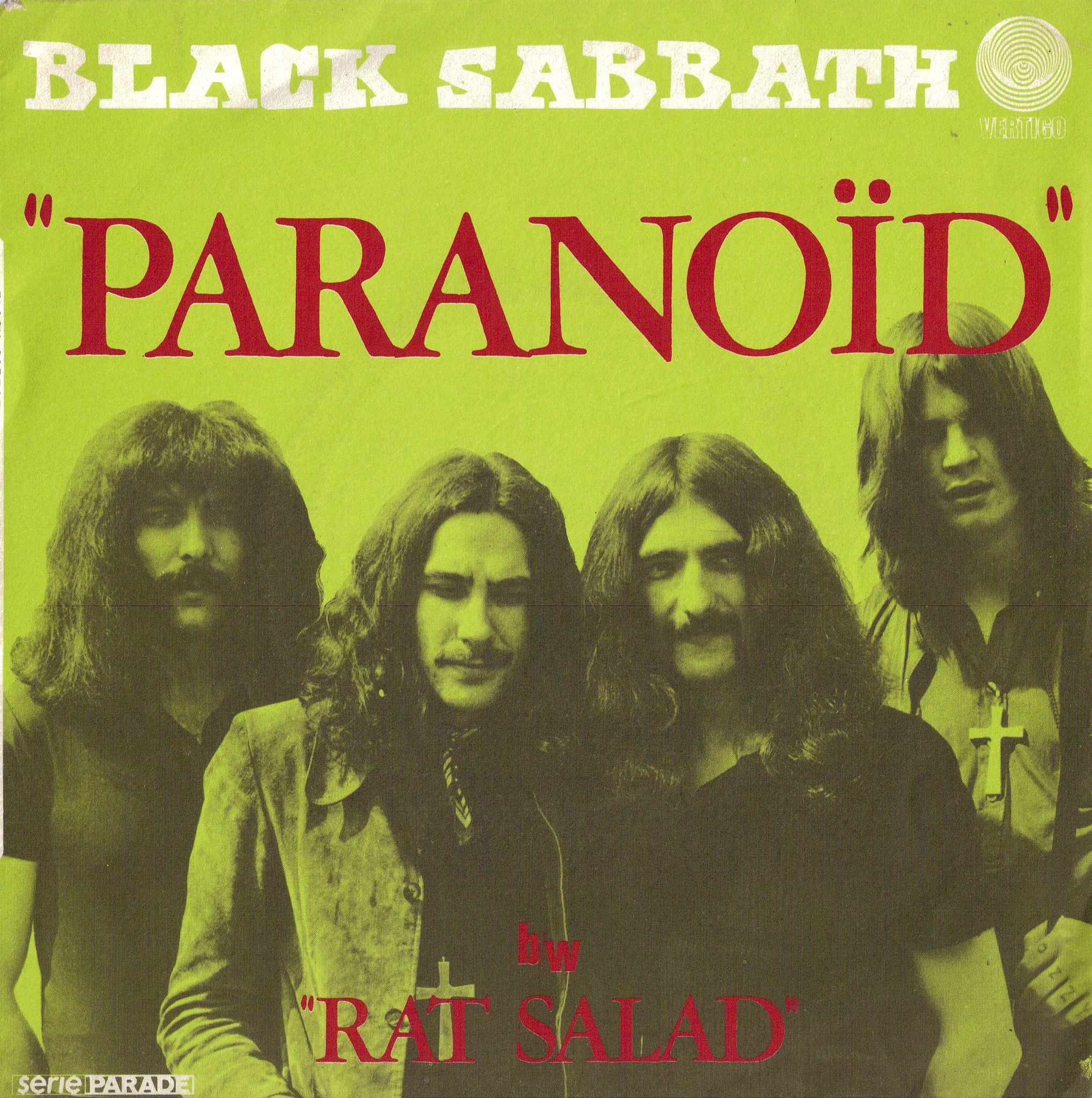 Black Sabbath Paranoid b/w Rat Salad | Black sabbath albums, Black sabbath,  Rock album covers