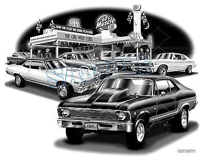 #Chevy nova 1968 1969 muscle car auto art #print    **free usa #shipping**,  View more on the LINK: 	http://www.zeppy.io/product/gb/2/391368235931/
